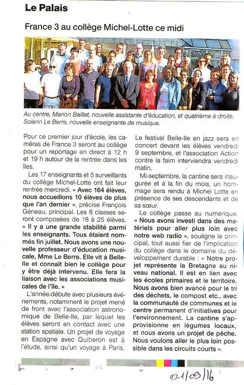 Ouest-France 01/09/2016